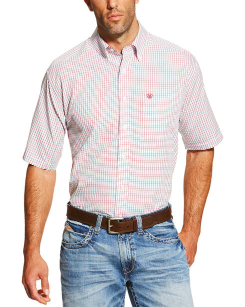 Ariat Men's Multi Ithaca Short Sleeve Shirt , Multi, hi-res