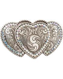 Triple Heart Buckle, , hi-res