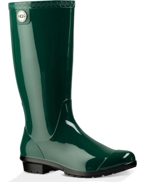 UGG® Women's Shaye Rain Boots, Green, hi-res