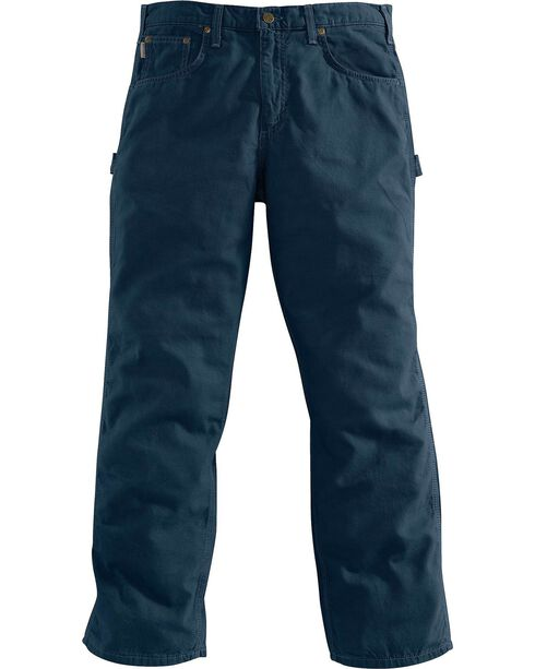 Carhartt Men's Loose Fit Canvas Carpenter Jeans, Navy, hi-res