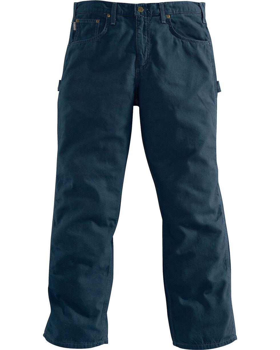 Carhartt Men's Loose Fit Canvas Carpenter Jeans, Navy, hi-res