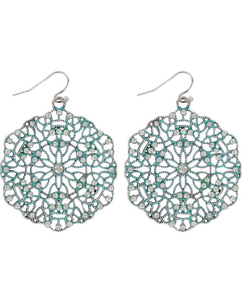 Shyanne® Women's Disc Earrings., Turquoise, hi-res
