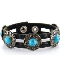 Shyanne Women's Leather Concho Bracelet, , hi-res