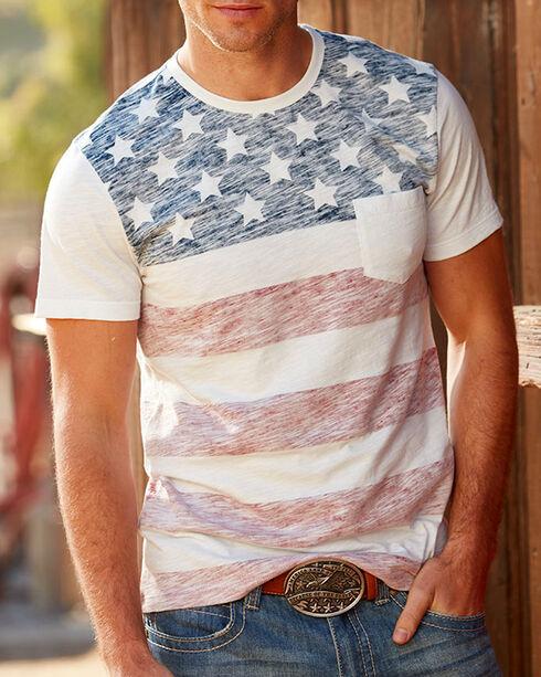 American Republic Men's Flag Pocket Tee, White, hi-res