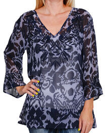 Rancho Estancia Women's Sheer Nacogdoches Blouse, , hi-res