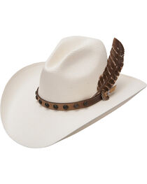 Stetson Men's Natural Broken Bow 10X Straw Hat, Natural, hi-res