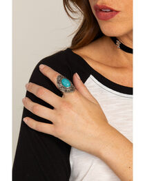 Shyanne® Women's Turquoise Concho Ring , , hi-res