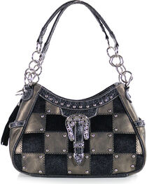 Savana Women's Checkered Hair-on Purse, , hi-res