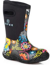 Roper Women's Flower Garden Casual Barn Boots , , hi-res