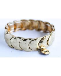 West & Co. Women's Burnished Gold Crescent Stretch Bracelet, , hi-res