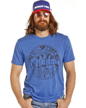 Rock & Roll Cowboy Men's Blue Dale Brisby Punchin' Fools Tee, Royal Blue, hi-res
