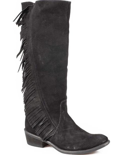 """Roper Women's On The Fringe 15"""" Western Boots, Black, hi-res"""