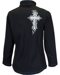 Cowgirl Hardware Women's Cross Embroidered Bonded Jacket, , hi-res