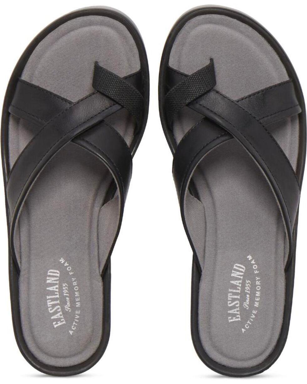 Eastland Women's Black Willow Wedge Sandals , Black, hi-res