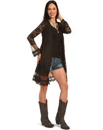 Young Essence Women's Long Lace Cardigan, , hi-res