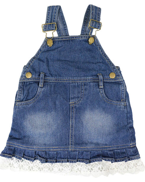 Shyanne® Infant Girls' Bib Overalls, Blue, hi-res