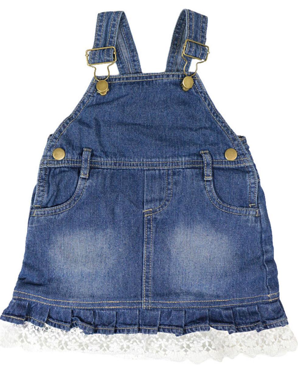 Shyanne® Infant Girls' Bib Overalls, Blue, hi-res