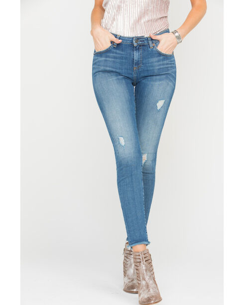 MM Vintage Women's Indigo Simply Jeans - Skinny , Indigo, hi-res