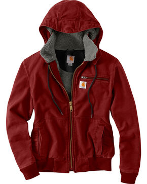 Carhartt Women's Red Weathered Wildwood Jacket , Red, hi-res