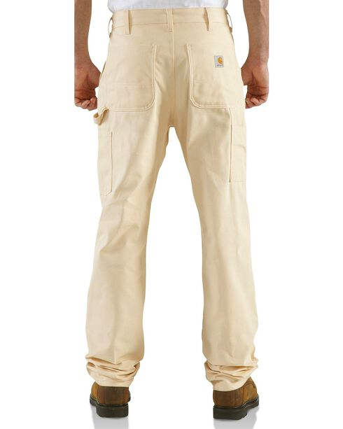 Carhartt Men's Double Front Drill Work Dungaree, Natural, hi-res