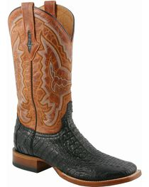 Lucchese Men's Exotic Caiman Western Boots, Black, hi-res