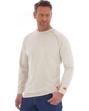 Wrangler Men's Flame Resistant Long Sleeve Work Shirt, Khaki, hi-res