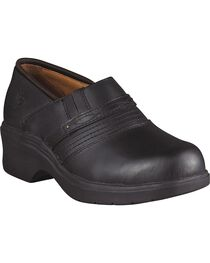 Ariat Black Clogs - Steel Toe, , hi-res