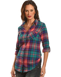 Golden Touch Women's Fergies Plaid Flannel Shirt , , hi-res