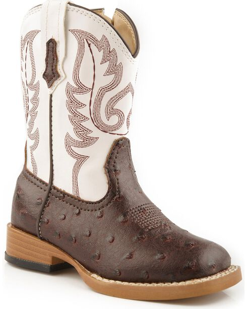 Roper Infant Western Boots, Brown, hi-res