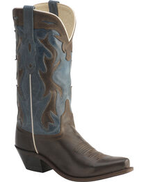 Old West Jama Vintage Inlay Shaft Cowgirl Boots - Snip Toe, , hi-res