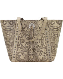 American West Sand Baroque Zip Top Bucket Tote , , hi-res