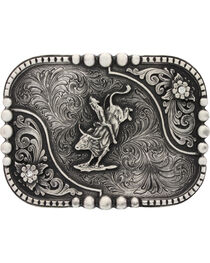 Montana Silversmiths Classic Impressions Bullrider Attitude Belt Buckle, , hi-res