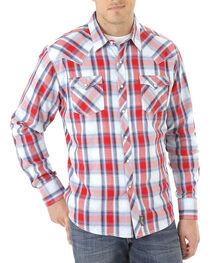 Wrangler Men's Retro Americana Plaid Long Sleeve Shirt, , hi-res