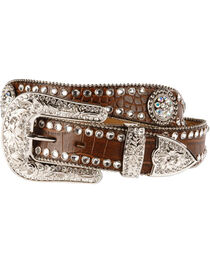 Blazin Roxx Scalloped Croc Print Belt, , hi-res