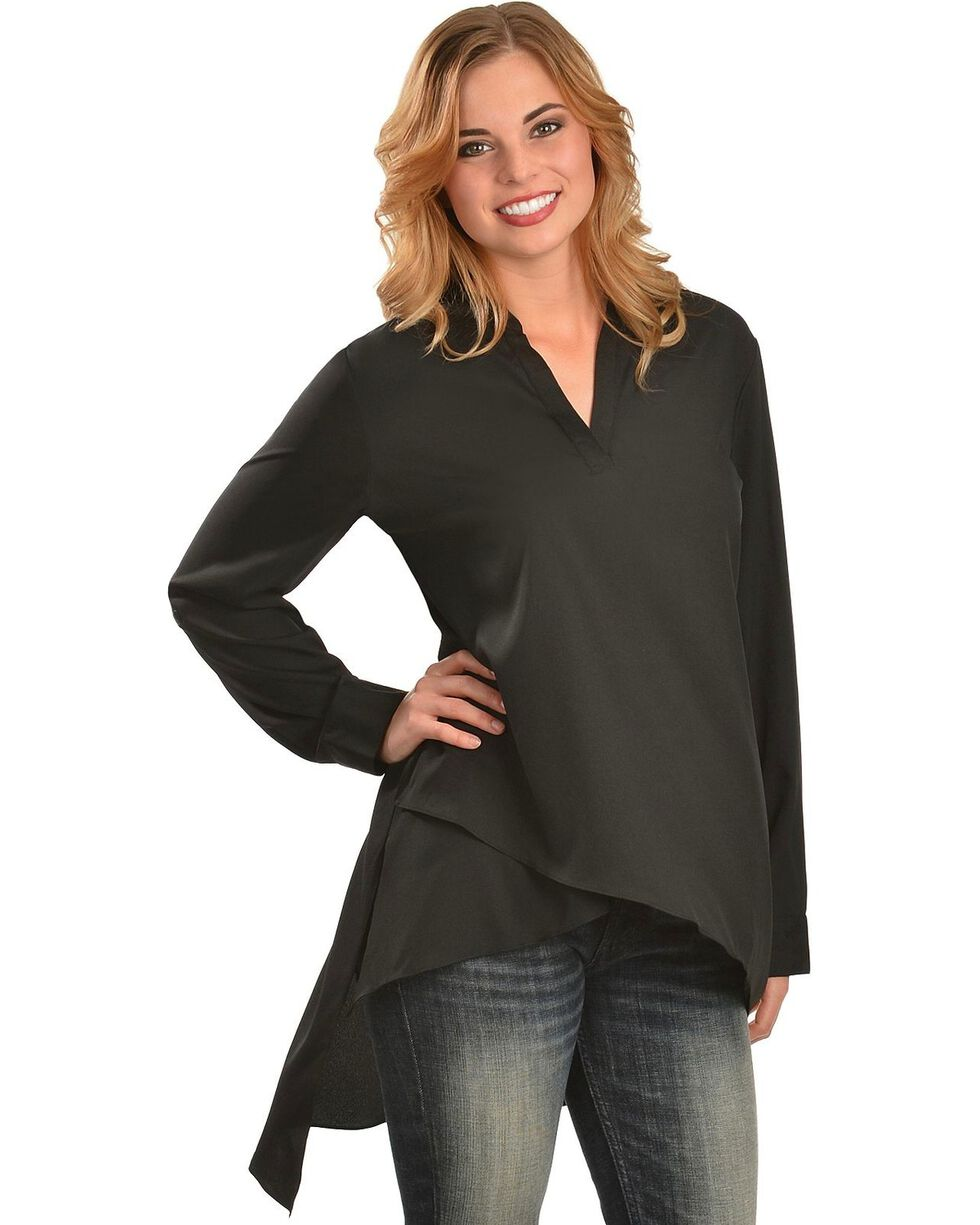 Red Ranch Women's Black High-Low Tunic, , hi-res