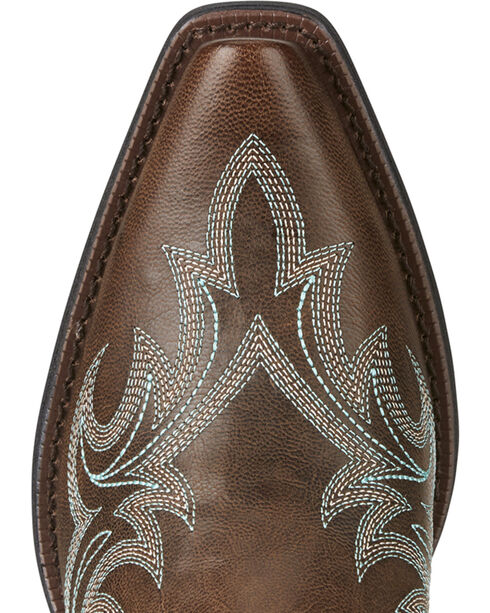 Ariat Women's Brown Round Up Renegade Boots - Snip Toe , Brown, hi-res