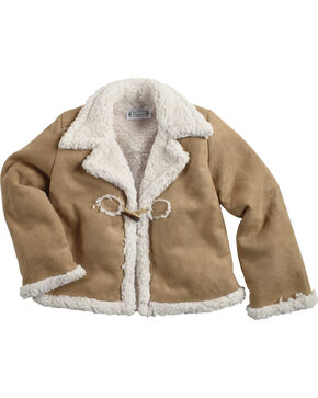 Shyanne® Girls' Sherpa Jacket, Brown, hi-res