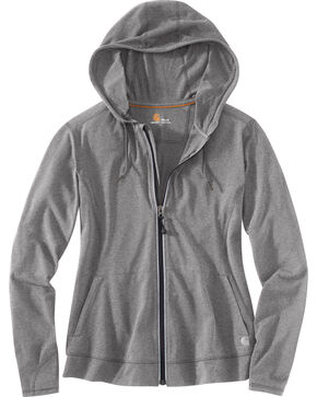 Carhartt Women's Plain Zip-Up Sweater, Grey, hi-res