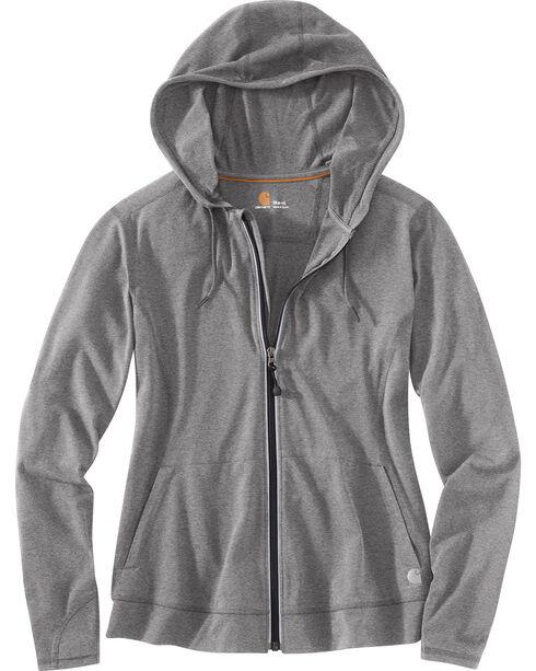 Carhartt Women's Plain Zip-Up Sweater, Grey, hi-res
