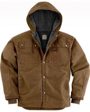 Carhartt Men's Sandstone Sherpa Lined Jacket, Brown, hi-res