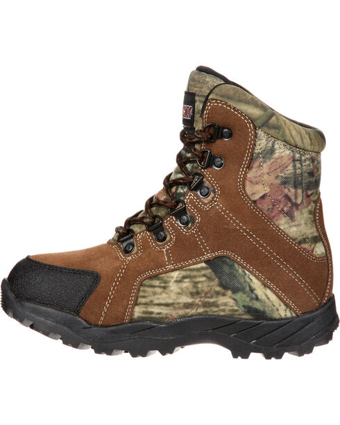 Rocky Kids' Hunting Waterproof Insulated Boots, Brown, hi-res