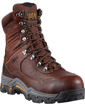 "Ariat Men's Trek 8"" Insulated Work Boots, Brown, hi-res"