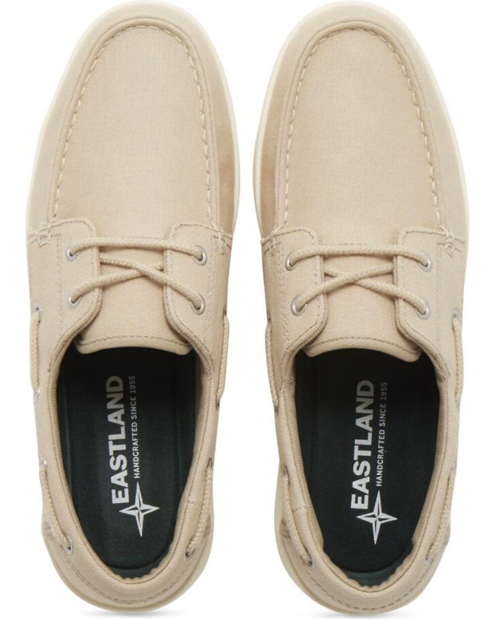 Eastland Men's Popham Canvas Boat Shoes - Moc Toe, Beige/khaki, hi-res