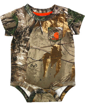Carhartt Infant Boys' Camo Print Onesie, Camouflage, hi-res