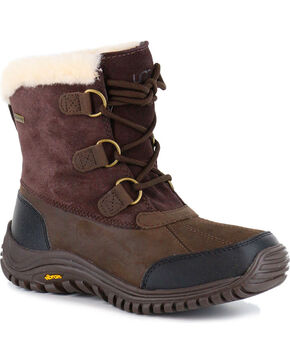 UGG® Women's Ostrander Cold Weather Waterproof Boots, Brown, hi-res