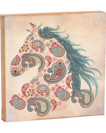 BB Ranch Paisley Horse Canvas Art   , , hi-res