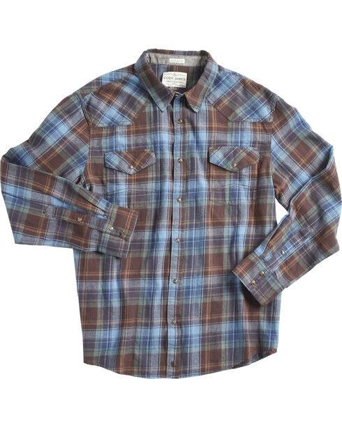 Cody James Men's Towhee Long Sleeve Shirt , Blue, hi-res