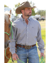 Cinch Men's Grey Long Sleeve Western Shirt , , hi-res