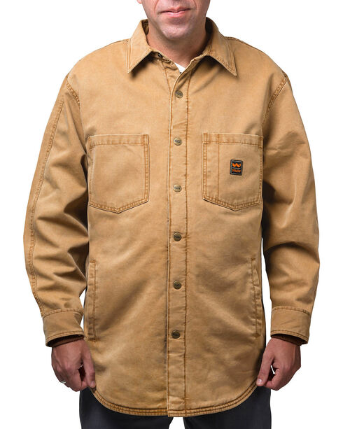 Walls Men's Bandera Vintage Duck Shirt Jacket - Big and Tall , Pecan, hi-res