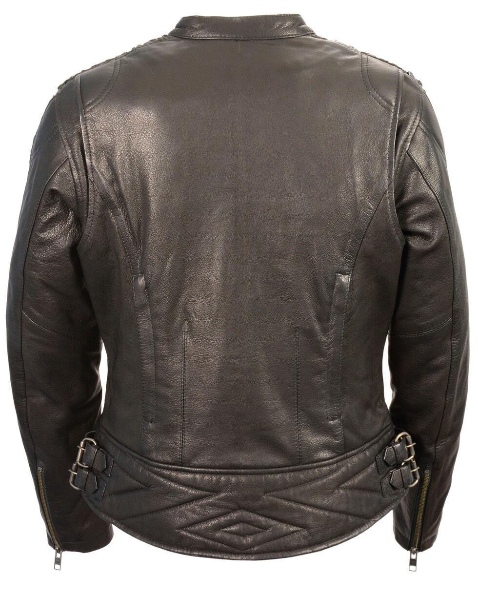 Milwaukee Leather Women's Crinkle Arm Lightweight Racer Jacket - 3X, , hi-res